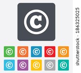 copyright sign icon. copyright...