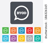 byod sign icon. bring your own... | Shutterstock .eps vector #186326165