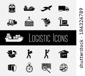 logistic global supply chain... | Shutterstock . vector #186326789