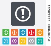 attention sign icon.... | Shutterstock .eps vector #186328211