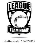 baseball badge icon symbol  | Shutterstock . vector #186329015