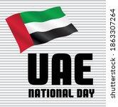 uae national day poster design...   Shutterstock .eps vector #1863307264