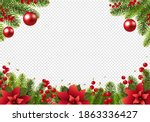 christmas postcard with... | Shutterstock .eps vector #1863336427