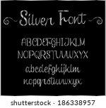 silver font | Shutterstock .eps vector #186338957