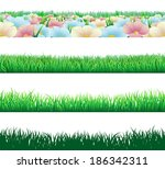 a set of seamlessly tilable... | Shutterstock .eps vector #186342311