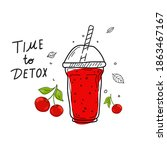 smoothies or detox cocktail day ... | Shutterstock .eps vector #1863467167