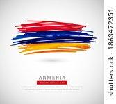 brush flag of armenia country.... | Shutterstock .eps vector #1863472351