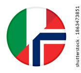 round icon with italy and... | Shutterstock .eps vector #1863473851