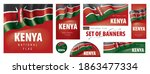 vector set of banners with the... | Shutterstock .eps vector #1863477334