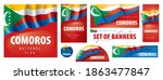 vector set of banners with the... | Shutterstock .eps vector #1863477847