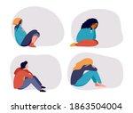 young people  teenagers ... | Shutterstock .eps vector #1863504004