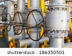 valves manual in the process.... | Shutterstock . vector #186350501