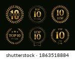 set of top ten badges with... | Shutterstock .eps vector #1863518884