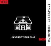 icon university building vector ... | Shutterstock .eps vector #1863524221
