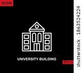 icon university building vector ... | Shutterstock .eps vector #1863524224