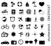 travel icons | Shutterstock .eps vector #186354167