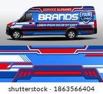 vector design of delivery van.... | Shutterstock .eps vector #1863566404