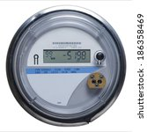 Electric Meter Front View With...