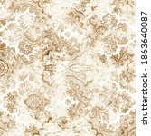 geometric damask seamless...   Shutterstock . vector #1863640087