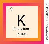 k potassium chemical element...   Shutterstock .eps vector #1863656374
