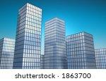 3d reflective glass buildings... | Shutterstock . vector #1863700