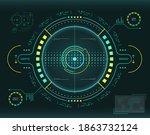 ui hud circular system...   Shutterstock .eps vector #1863732124