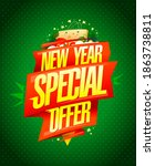 new year special offer  ... | Shutterstock . vector #1863738811