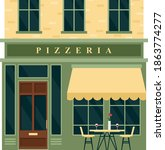 vintage pizzeria cafe... | Shutterstock .eps vector #1863774277