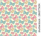cute vector seamless pattern... | Shutterstock .eps vector #186377654