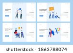 web page design templates of... | Shutterstock .eps vector #1863788074