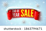 End Of Year Sale Banner With...