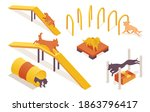 Isometric Collection Of Dogs...