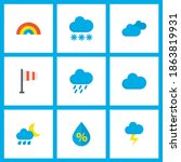 weather icons flat style set... | Shutterstock .eps vector #1863819931