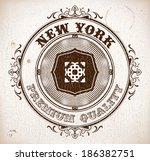 vintage card | Shutterstock .eps vector #186382751