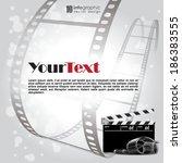 vector info graphic background  ... | Shutterstock .eps vector #186383555