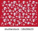 pattern made of funny skulls...