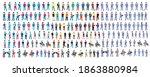 isometric people boss ... | Shutterstock .eps vector #1863880984