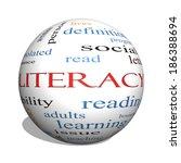 literacy 3d sphere word cloud... | Shutterstock . vector #186388694
