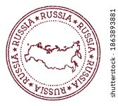 russia round rubber stamp with... | Shutterstock .eps vector #1863893881