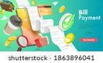 3d vector conceptual... | Shutterstock .eps vector #1863896041