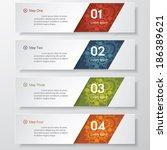design clean number banners... | Shutterstock .eps vector #186389621