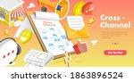 3d isometric flat vector... | Shutterstock .eps vector #1863896524