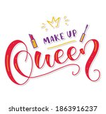 make up queen  colored... | Shutterstock .eps vector #1863916237