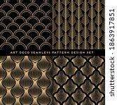 art deco style seamless pattern ... | Shutterstock .eps vector #1863917851
