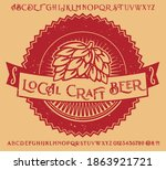 retro set styled label of beer  ... | Shutterstock .eps vector #1863921721