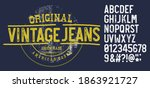 craft vintage typeface design.... | Shutterstock .eps vector #1863921727