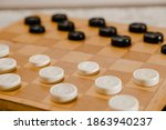 Brown Wooden Chessboard With...