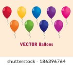 collection of colorful vector... | Shutterstock .eps vector #186396764