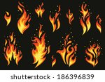 set of fires. | Shutterstock .eps vector #186396839