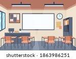 empty classroom. school... | Shutterstock .eps vector #1863986251